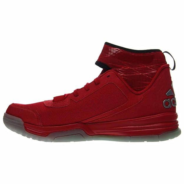 Adidas Duplice Minaccia Uomo Scarpe Da Basket Scarlet