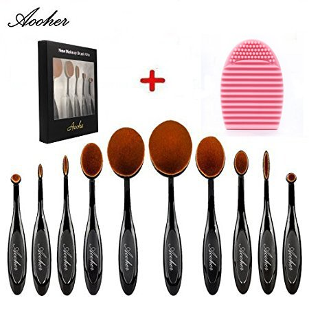 Aooher Toothbrush Silicone Cleaning Black10pcs product image