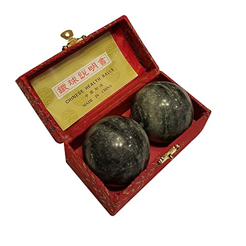 black marble stone chinese healthy exercise massage baoding balls