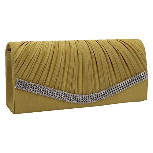 Gold Clutch Bag River Island - 7