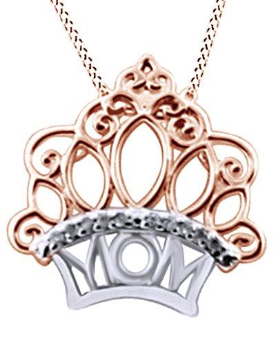 Diamond Accent Crown Necklace - 5