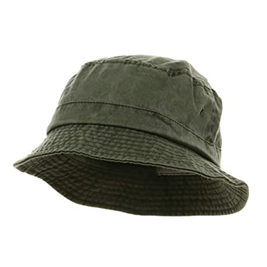 d7b2d6fa60cfcf MG Washed Hats-Olive W12S41E at Amazon Men's Clothing store: Bucket Hats