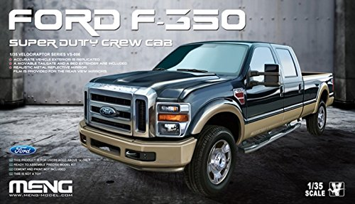 Meng 1:35 Ford F-350 Super Duty Crew Cab Pickup Truck - Plastic Model Kit #VS006