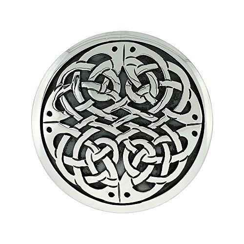 Sterling Silver Celtic Knot work Mandala Brooch Pin Pendant, 1