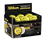 Wilson WTA9031TASA-LOW Polycore Center Fastpitch Optic Yellow Softballs (1-Dozen, Retail Package)
