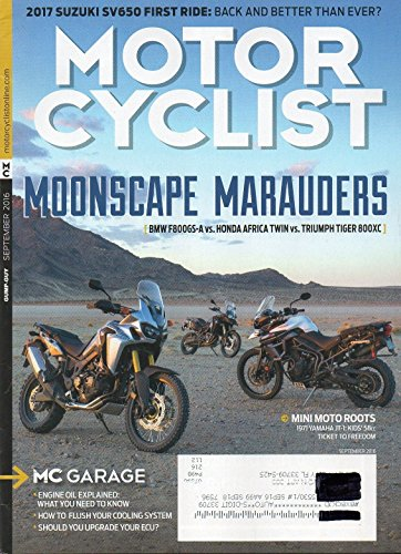 Honda Tiger - Motorcyclist 2016 Magazine BMW F800GS-A vs HONDA AFRICA TWIN vs TRIUMPH TIGER 800XC