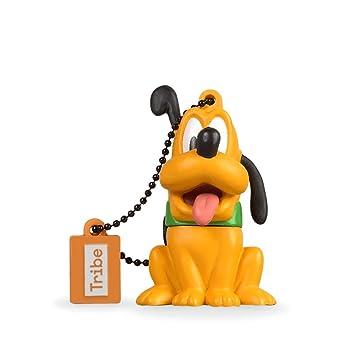 Tribe Disney Pluto - Memoria USB 2.0 de 8 GB Pendrive Flash Drive de Goma con Llavero, Color Orange