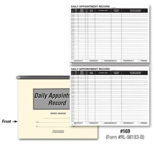 Auto Repair Service Appointment Book