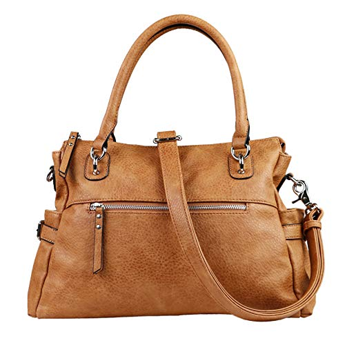 - Concealed Carry Purse - YKK Locking Jessica Satchel by Lady Conceal (Cinnamon)