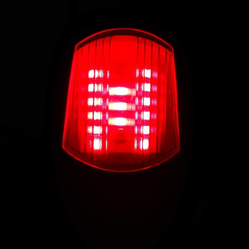 1 Pair of Left Right Singal Lamp Universal Led Navigation Light for Boat//Marine//Yacht DC 12V Navigation Light