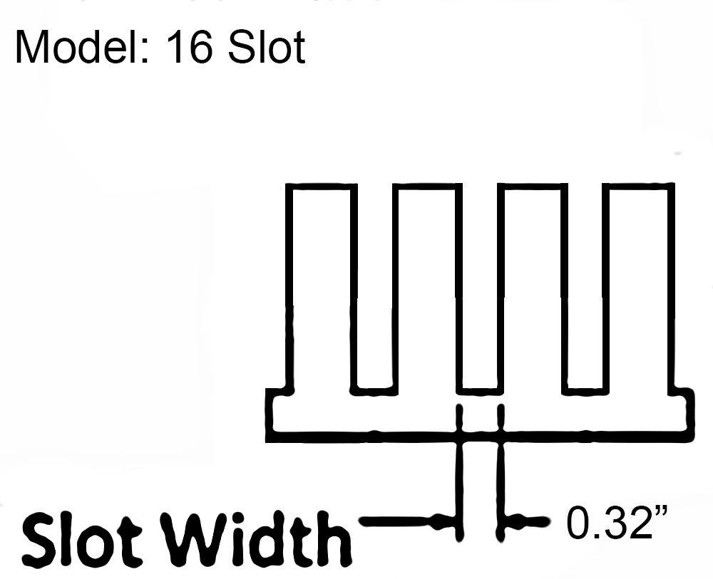 16 Slot Cable Manager 1U Server Rack Wire Management System (medium slots) - 5 Pack