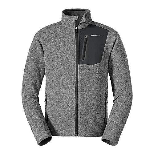 Eddie Bauer Men's Cloud Layer Pro Full-Zip Jacket, HTR Gray Regular L