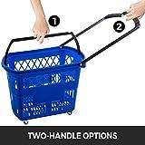 Mophorn 3PCS Shopping Carts, Blue Shopping Baskets