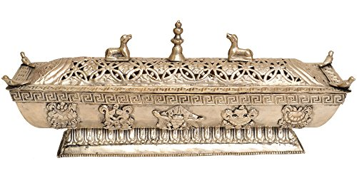 Exotic-India-ZBU43-Tibetan-Buddhist-Incense-Burner-with-Auspicious-Symbols
