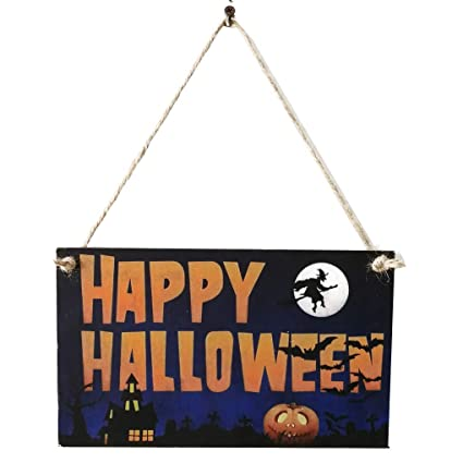Amazon Com Lola Ling Wooden Witch Pumpkin Owl Letter Halloween
