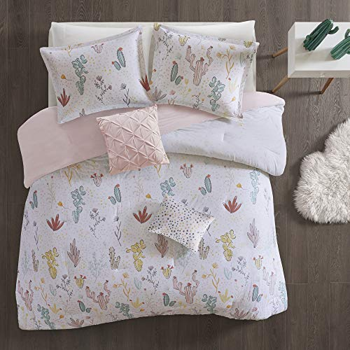 Urban Habitat Kids Desert Bloom 4 Pieces 100% Cotton Printed Comforter Set Bedding, Twin/Twin XL Size, Red - Pastel Urban