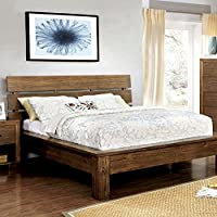 247SHOPATHOME Idf-7251CK-6PC Bedroom-Furniture-Sets, California King, Brown