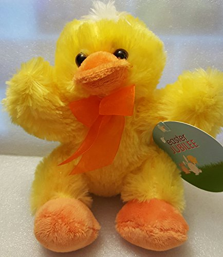 Yellow Duck Orange Bow Dan Dee Easter Bunny Jubilee Plush Stuffed Measures 7 inches