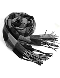 Men's Scarves Hot Sale Scarf Classic Arrival Winter Plaid Scarf Tassel Edge Soft Warm Scarf