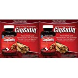 TruNature CinSulin Cinnamon with Chromium Picolinate, Cinnamon 500 mg, Chromium Picolinate 200 mcg Per Dosage, 120 Banded Capsules (Pack of 2) by TruNature