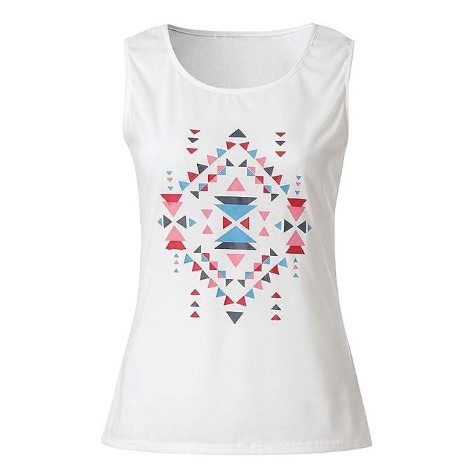 Gusspower Ropa Mujeres Camisetas sin Mangas Tank Top, Chaleco Sexy Estampado Bohemio Casual Blusa Camisas Tops para Mujeres Dama: Amazon.es: Ropa y ...