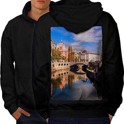 wellcoda Canal Street River City Men Black 3XL Hoodie - 365 Canal Street