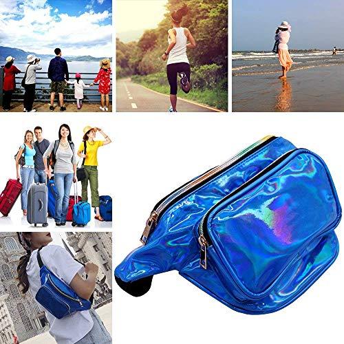 581f4f7873dd SAKEYR Holographic Fanny Pack for Women, Iridescent Laser Waist Bag Wallet  Bum Bag with Adjustable Belt for Rave, Festival, Travel, Party (Blue)