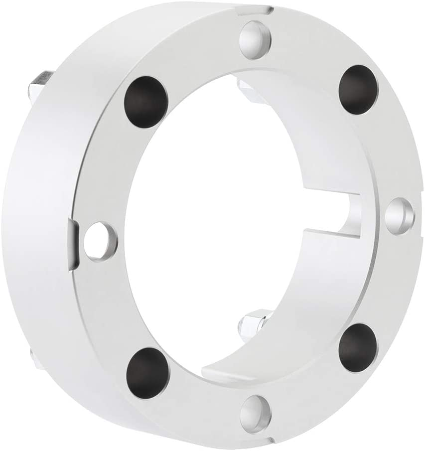 Silver RZR 570 800 900 2pc Kit for 4x156 Lug Patterns T6 Billet Aluminum BlackPath For Polaris ATV 1.5 Wheel Spacers Fits Ace RS1 Diesel 4x4 Ranger 400 425 500 700 800