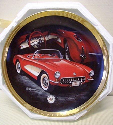 (1993 Hamilton Classic Corvettes Plate Collection 1957 Chevrolet CORVETTE)
