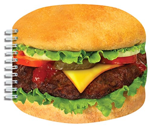 """Price comparison product image iscream Snack Shack Cheeseburger Shaped Lined-Page 6.5"""" Notebook"""
