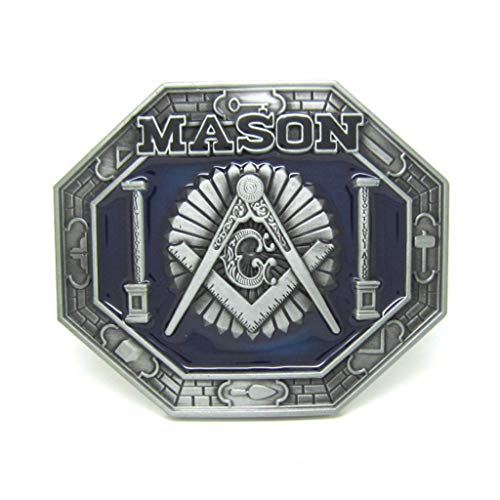 Compasses Freemason Mason Belt Buckles Symbols Masonic Buckles for Belts for Men Womens