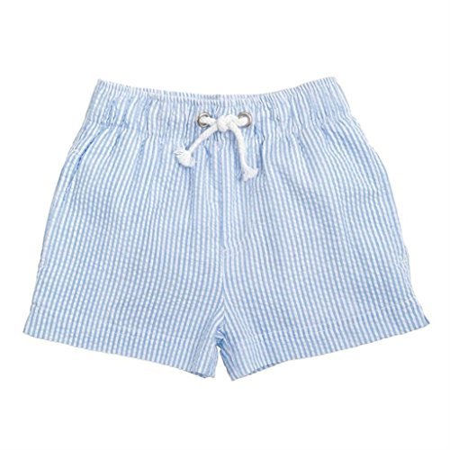 Mud Pie Seersucker Swim Trunks (Large- 4T/5T)
