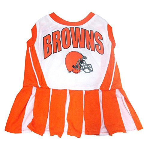 Cleveland Browns NFL Cheerleader Dress For Dogs - Size Small