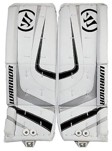 Youth Hockey Goalie Leg Pads (Warrior Youth Ritual Goalie Leg Pad, White/Black/Silver,)