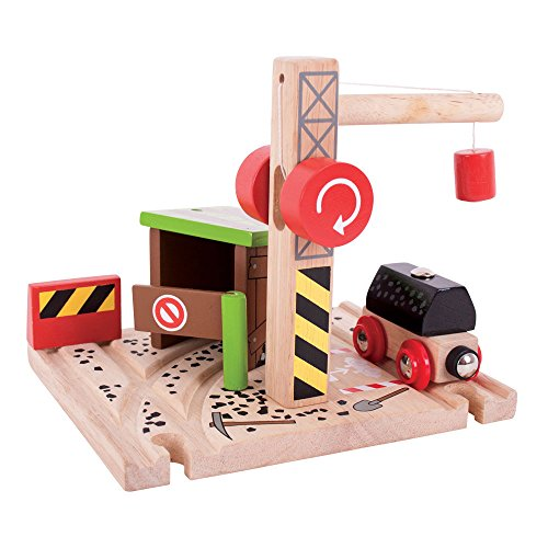Bigjigs Rail Wooden Railway Coal Mine for Train Set (Coal Station)