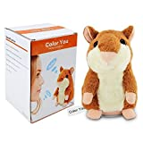 Color You Talking Hamster Repeats What You Say Electronic Pet Talking Plush Buddy Mouse for Kids, 3 x 5.7 inches