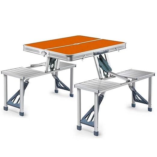 HSTFR Mesa Plegable y sillas para Exteriores, portátil, Juego de ...