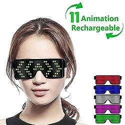 Green LED Light up Glasses