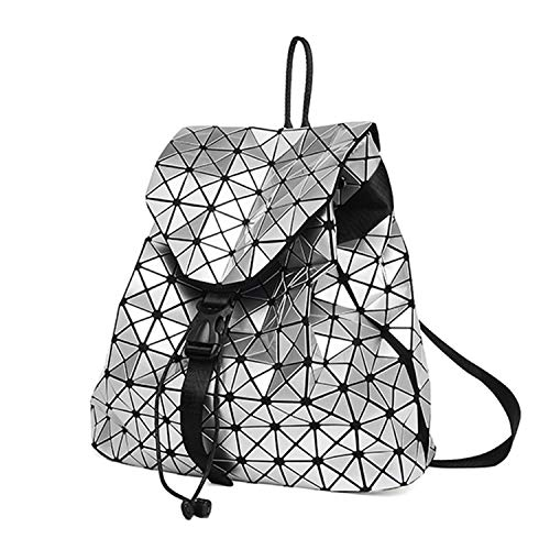Women's Backpack Bag Geometric Patchwork Diamond Lattice Backpack For Teenage School -