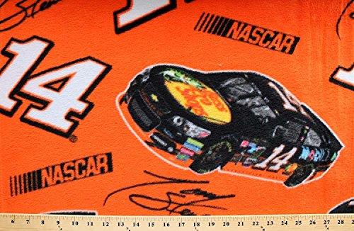 NASCAR® #14 Tony Stewart Car Race Racing Sports Fleece Fabric Print (snc3001-3a-1d) (Tony Stewart Wall)