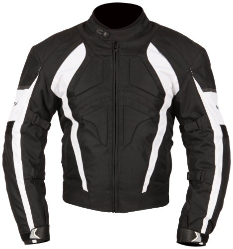 White And Black Motorcycle Jacket - 1