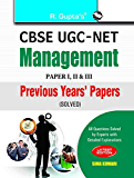 CBSE UGC-NET: Management Previous Years Papers (Paper I, II & III) Solved