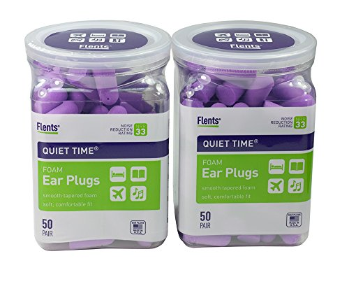 Flents Quiet Time Soft Comfort Ear Plugs 50 Pair (Pack of 2) (Plugs Flents Ear)