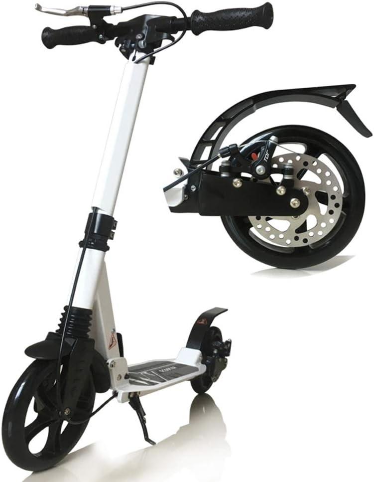 スクーター 大きい車輪/ブレーキが付いている折る蹴りのスクーター、十代の若者たちに最適12歳までの子供、調節可能なハンドル及び軽量の構造