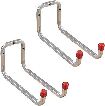 gedotec dispositivo Soporte Metal Escalera Ganchos Ganchos de pared Garage, acero galvanizado, profundidad: 90 mm, orden gancho para tornillos, 2 unidades – Universal Ganchos: Amazon.es: Bricolaje y herramientas