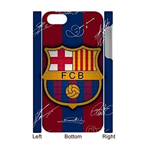 RAROFU New Style FC Barcelona Custom Luminous Case for IPhone 4/4s 3D