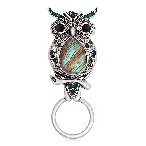 CHUANGYUN Ancient Silver Owl with Abalone Shellfish