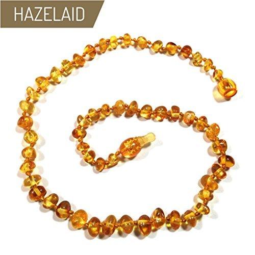 "Hazelaid (TM) 11"" Pop-Clasp Baltic Amber Honey"