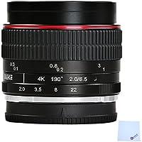 MEIKE MK-6.5mm F2.0 Fisheye Lens Wide Angle Manual Focus for Sony A7 A7R A5000 A6000 A6300 A7S A7II NEX-3 NEX-5 NEX-C3 NEX-5N NEX-7 NEX-F3 NEX-5R NEX-6 NEX-3N NEX-5T Mirrorless Camera+Mcoplus cloth