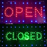 Lolicute 2 in 1 Open Closed Store Sign, LED Business Signs ,Neon Sign, Electric Advertisement Board for Drink Food Restaurant Diner Cafe Bar Pub Coffee Shop Store Hotel Wall Window Display Fixture